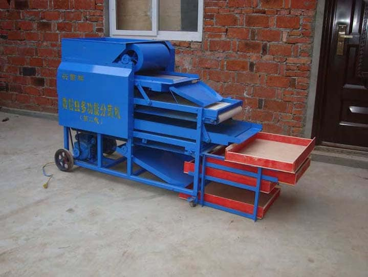 commercial mealworm separating machine in the factory